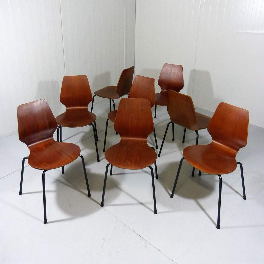 8-danish-teak-plywood-chairs-stackable