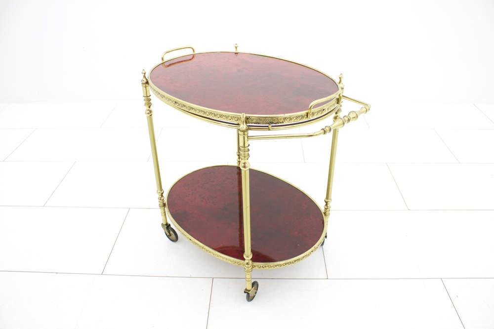 aldo-turabar-cart-aldo-tura-red-goatskin-and-brass-italy-1960s