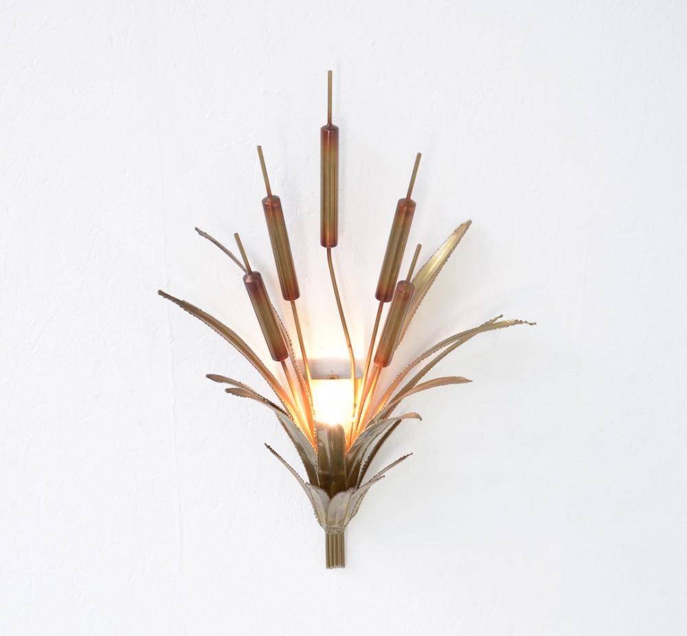 brass-cattail-wall-lamp-attr-maison-jansen