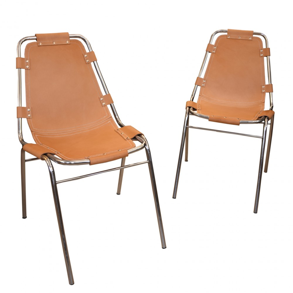 A pair of Charlotte Perriand Les Arch Chairs