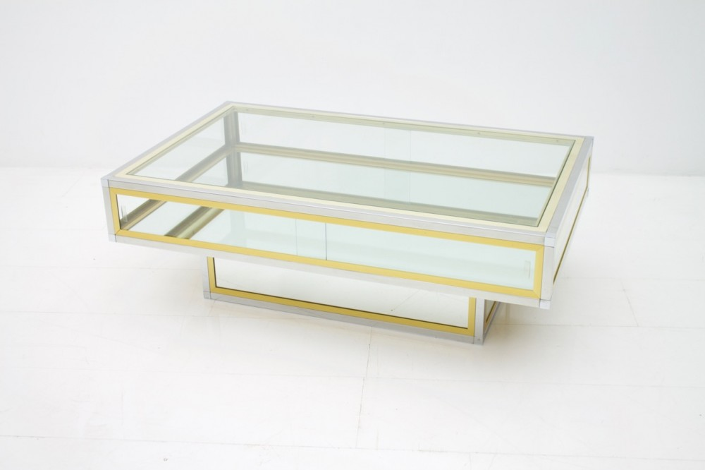 coffee-table-chrome-brass-and-glass-france-1970s