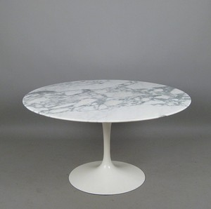 Eero Saarinen, a large marble dining table form the Tulip series for Knoll International