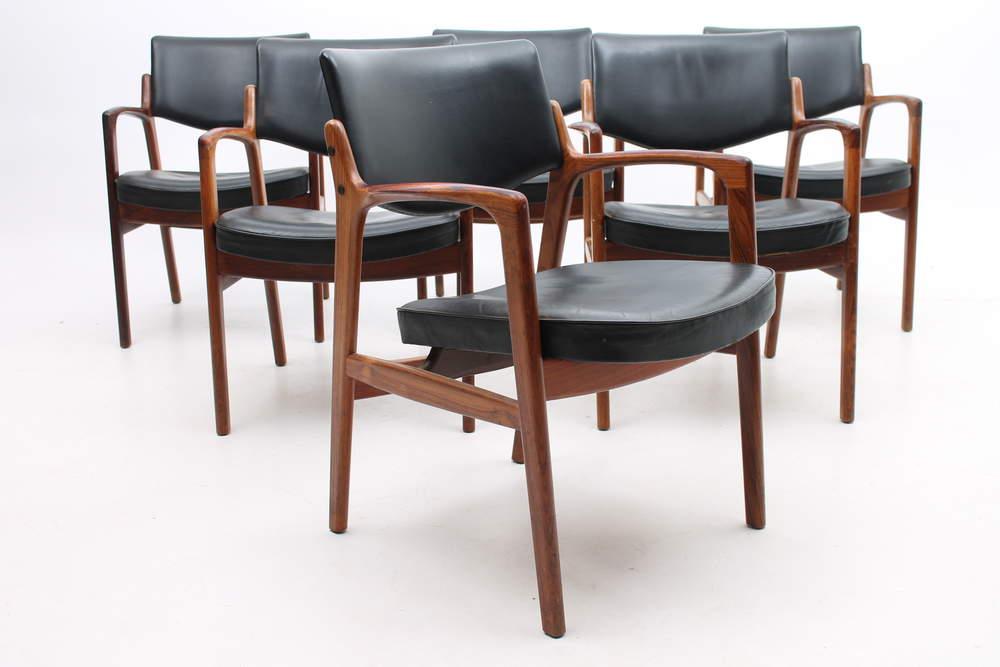 finn-haugaardset-6-armchairs-bondo-gravesen-denmark