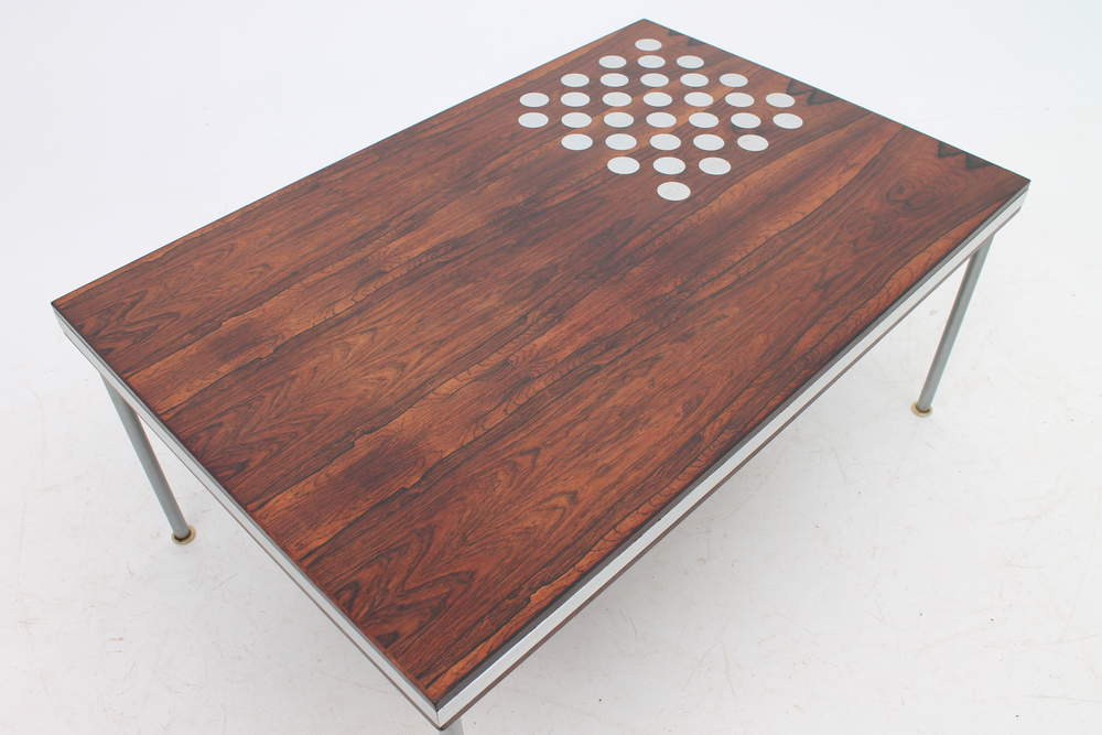 Coffee Table With Chess Board By Finn Juhl Dk Design Addict Coffee Side Tables