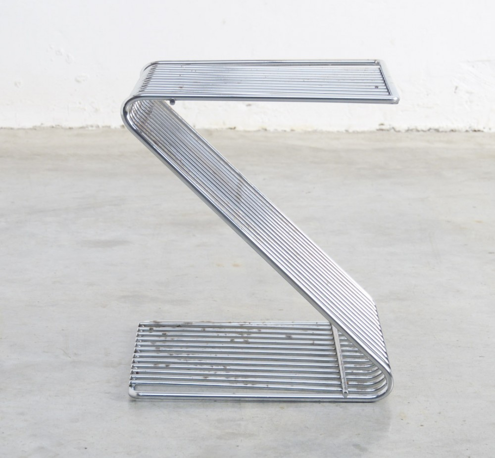 Chrome Z Stool by François Arnal for Atelier A