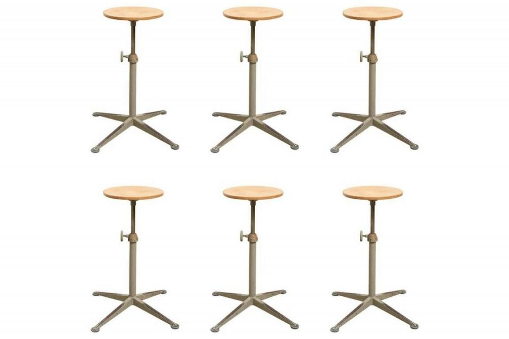 friso-kramerset-six-adjustable-architect-stools-designed-friso-kramer