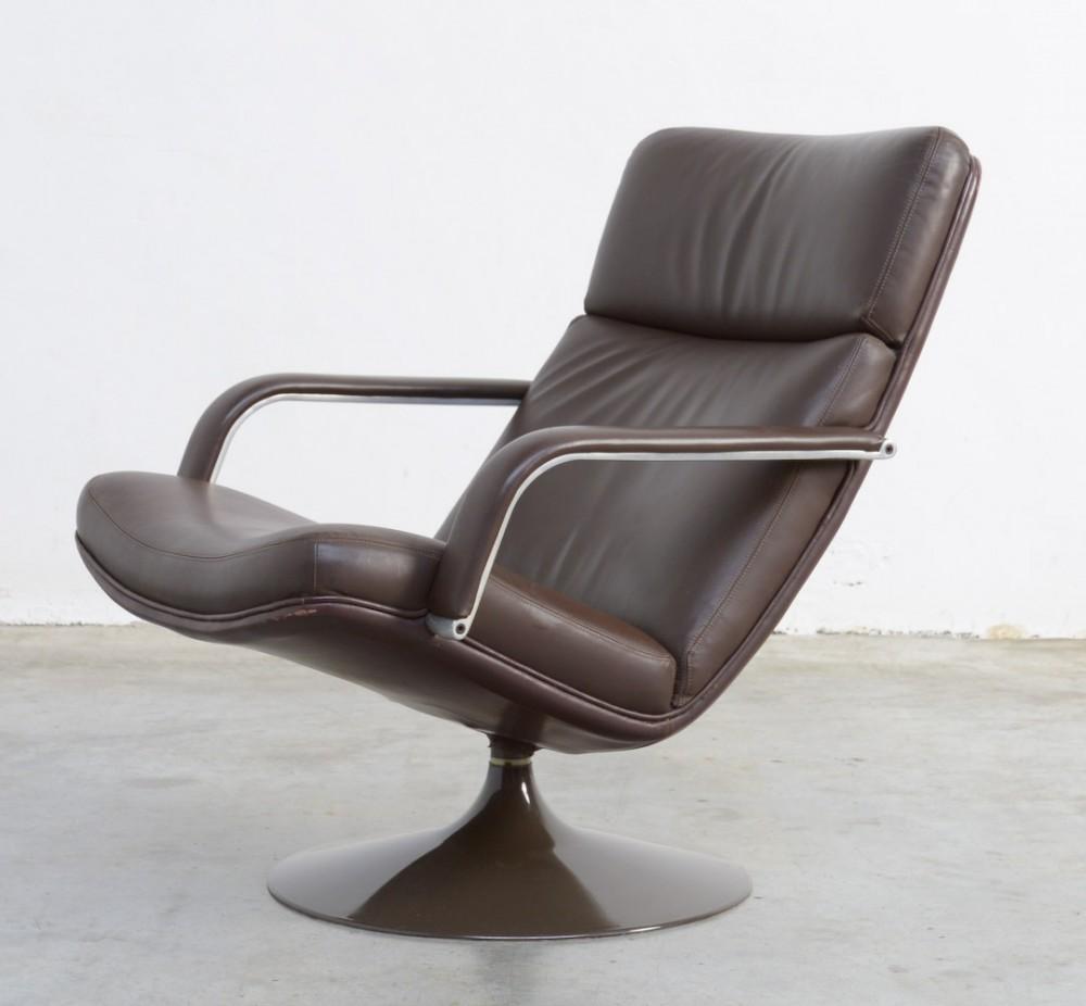 geoffrey-d-harcourtbrown-leather-lounge-chair-geoffrey-harcourt-for-artifort