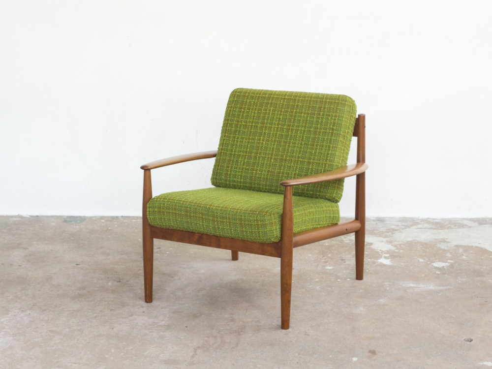 easy chairs in teak by Grete Jalk for France & Søn