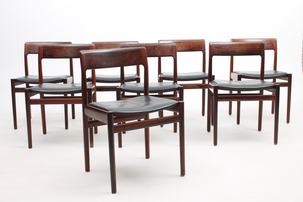 Set of 8 chairs by J.Nørgaard, Denmark.