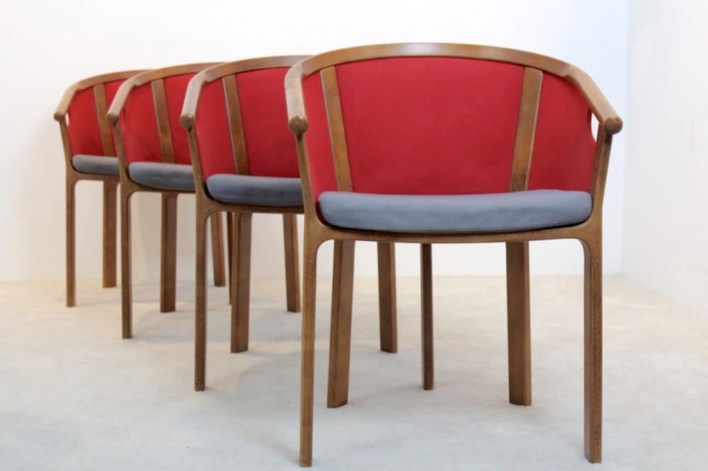 Set of 4 Magnus Olesen teak dining chairs by Rud Thygesen & Johnny Sørensen, Denmark