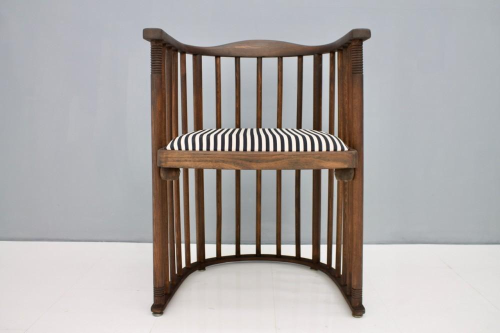 Josef Hoffmann Design.Early Josef Hoffmann Barrel Chair Jacob Josef Kohn Austria 1880
