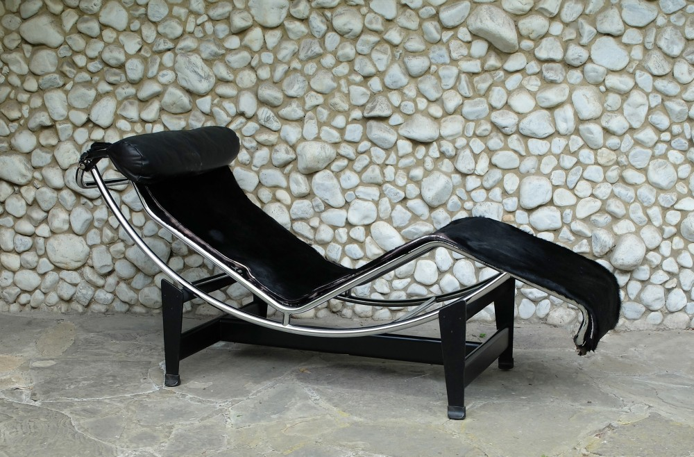 Early LC4 Chaise Longue By Le Corbusier Jeanneret Perriand For