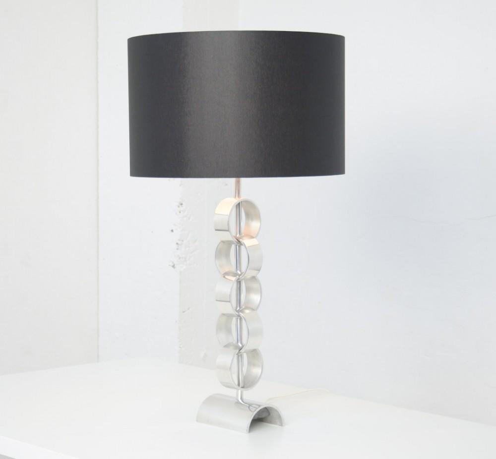 Minimalist Chromed Table Lamp 1970s