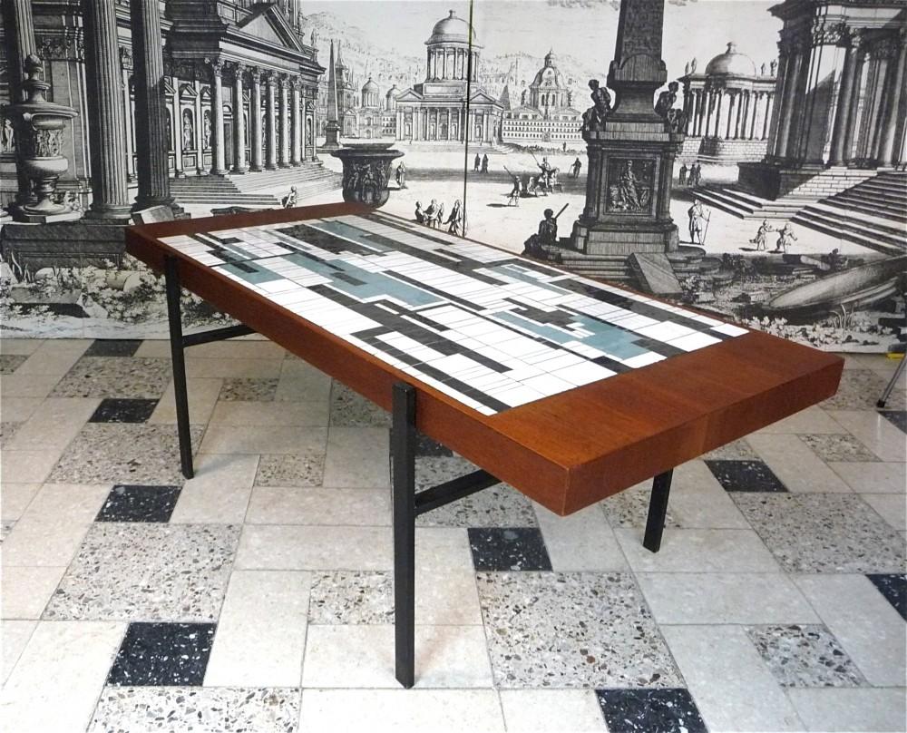 minimalist-teak-coffee-table-abstract-ceramic-mosaic-and-steel-frame-germany-1960s