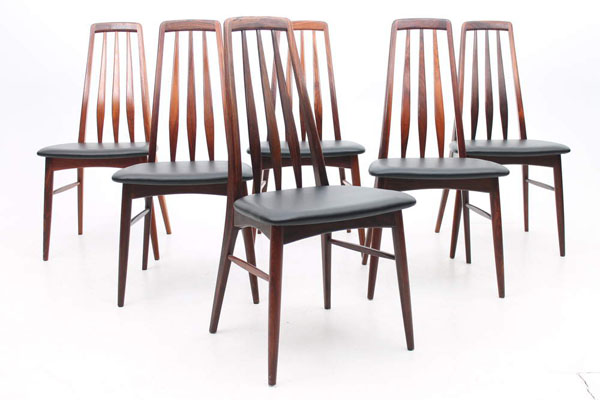official photos 68065 ad54c Set of 6 rosewood dining chairs, model EVA by Niels Kofoed, Denmark