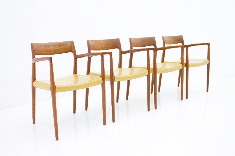 niels-o-mollerset-four-teak-armchairs-niels-o-moller-model-57