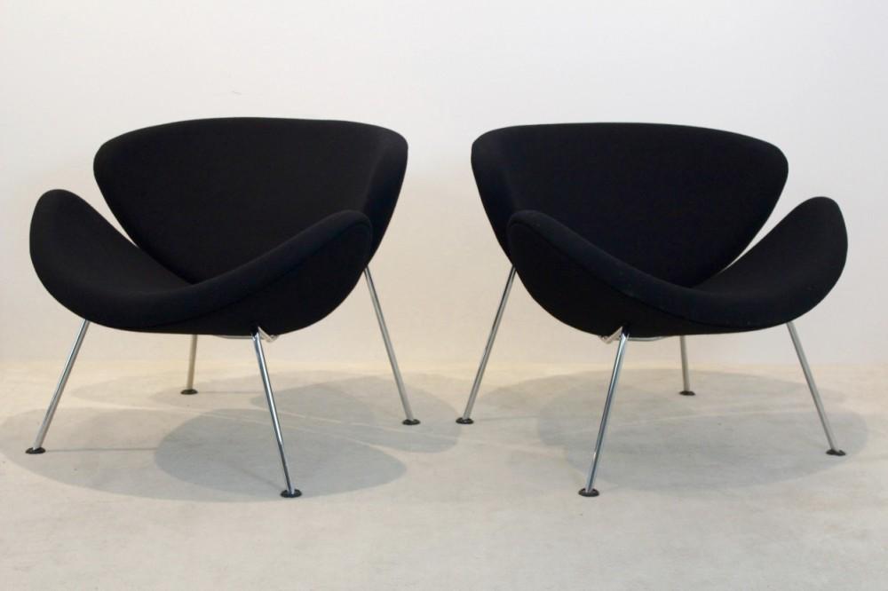 pierre-paulinpair-artifort-f437-orange-slice-chairs-pierre-paulin