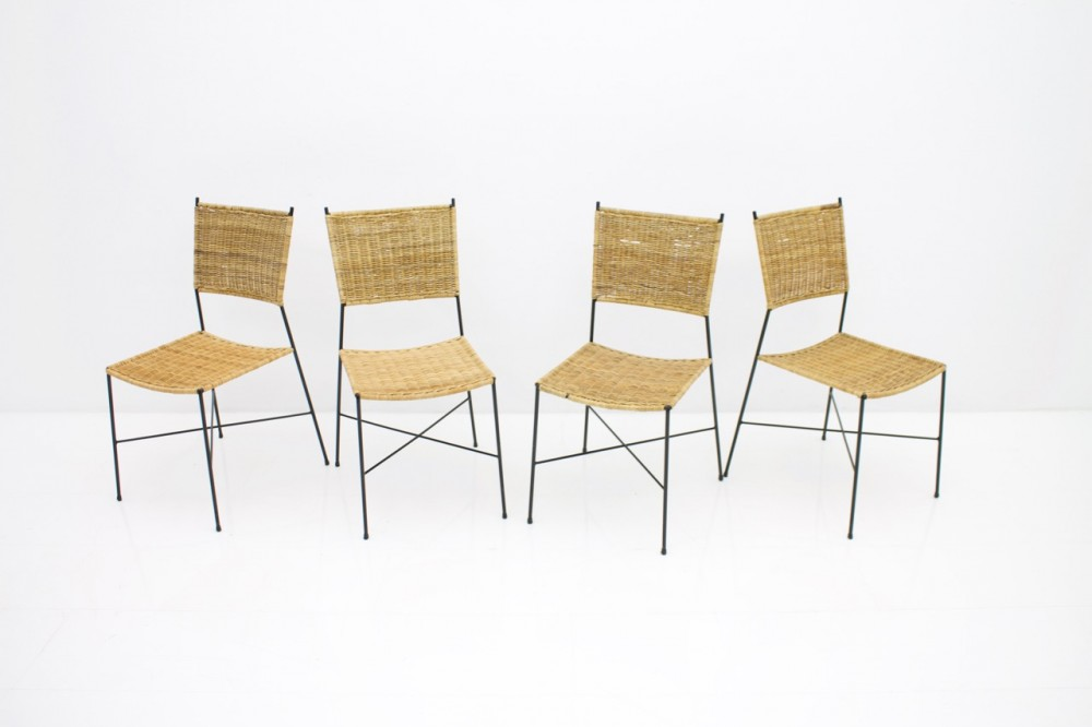 set-four-wicker-metall-dining-chairs-1960s