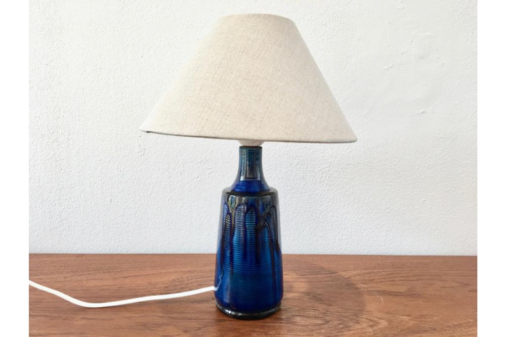 Small Blue Danish Ceramic Table Lamp Design Addict