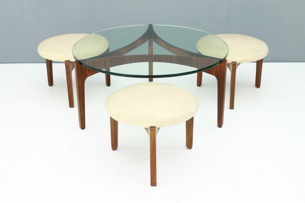 sven-ellekaerrare-set-coffee-table-and-three-stools-sven-ellekaer