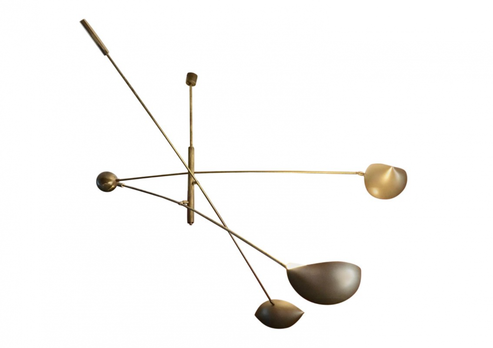 three-armed-golden-italian-pendant-light-brass-counterweight