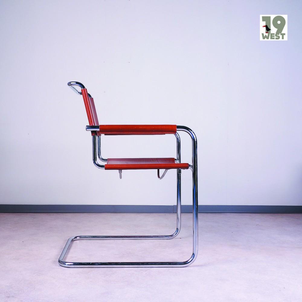 tubular-steel-cantilever-chair-linea-veam-1980s