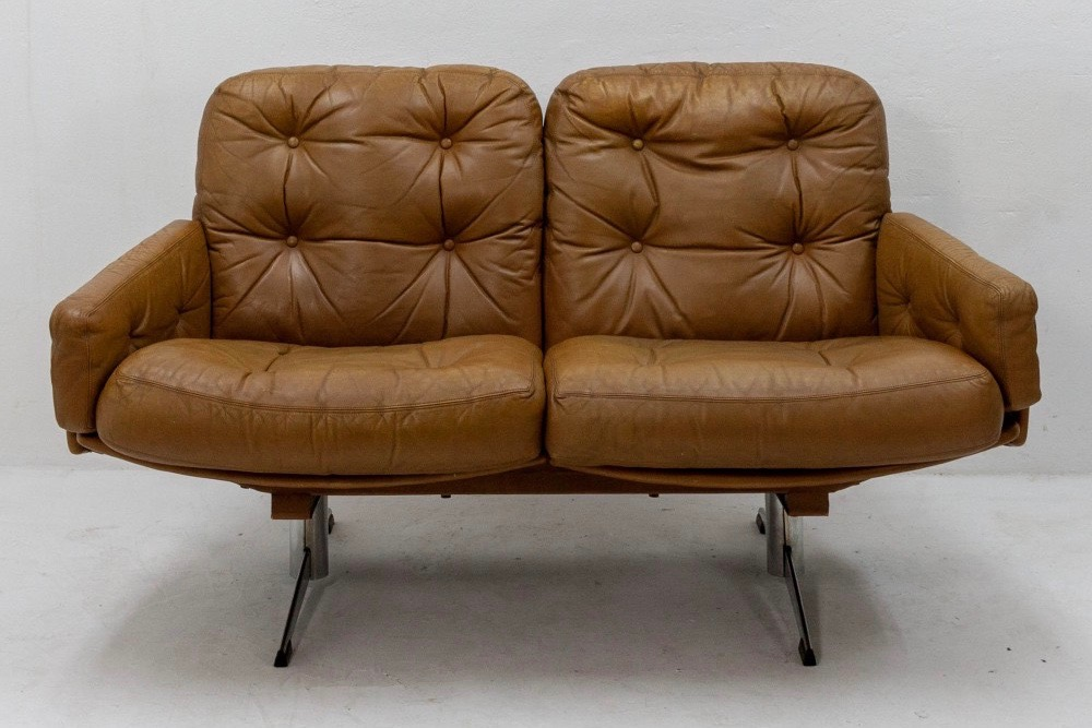 1960s-curved-leather-loveseat