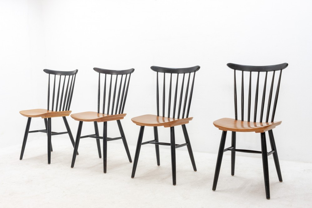 4-plywood-spindle-back-tapiovaara-chairs-1950s