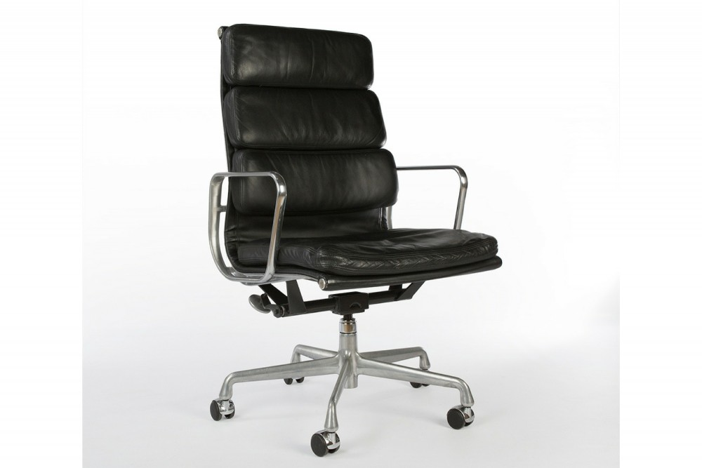 Black 2004 Herman Miller Eames Soft Pad high Back Side Chair – Office Chairs