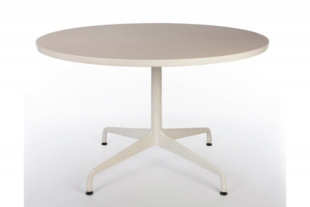 White 1997 Herman Miller Eames Contract Base Dining Table