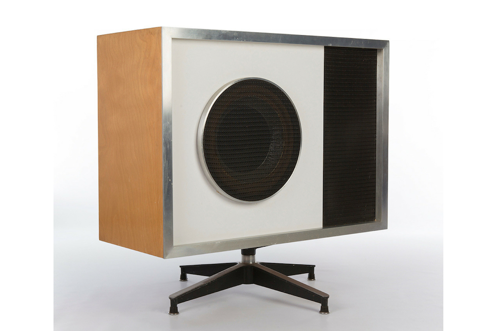 Wooden 1956 Stephens Trusonic Eames Stephens Trusonic Speaker Range Audio Visual