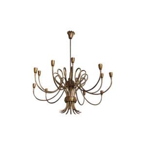 Mid-century brass italian chandelier circa,1950