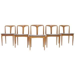 Teak dining chairs juliane by Johannes Andersen, Denmark