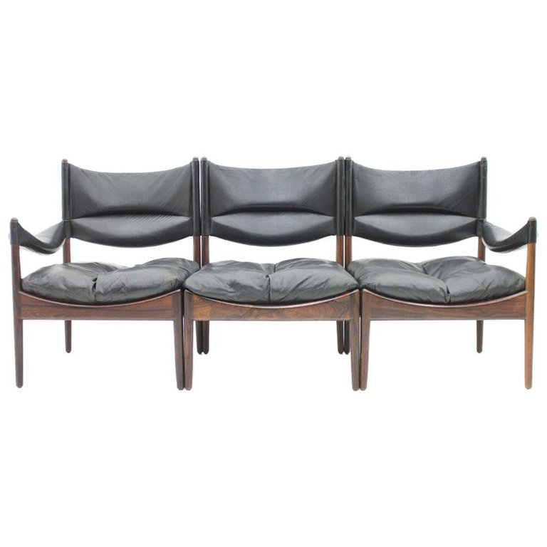 Rare High Back Three-Seat Sofa by Kristian Solmer Vedel for Søren Willadsen