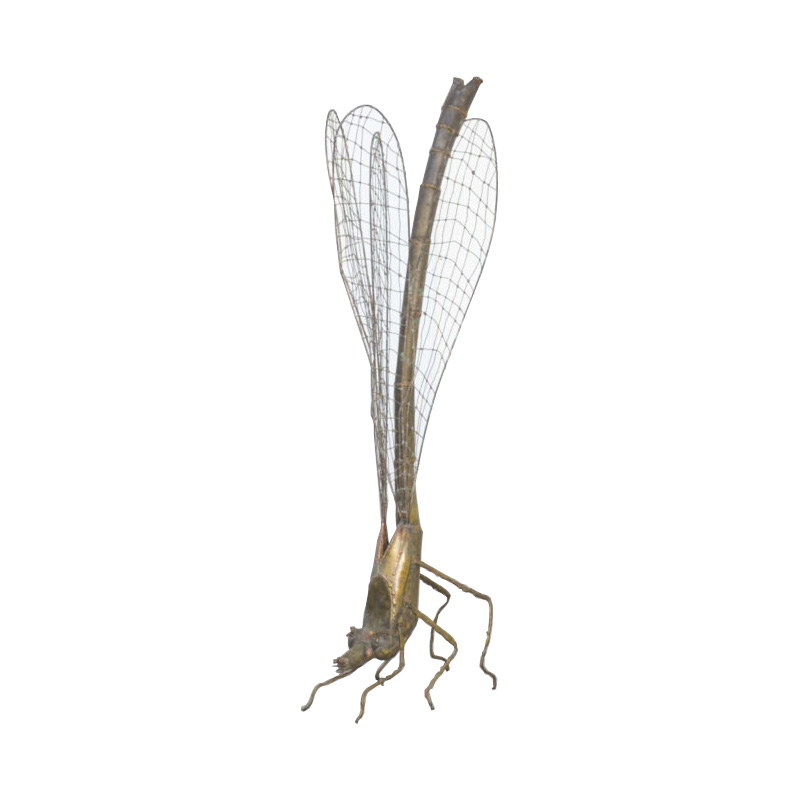 Brass Dragonfly Sculpture by Daniel Dhaeseleer