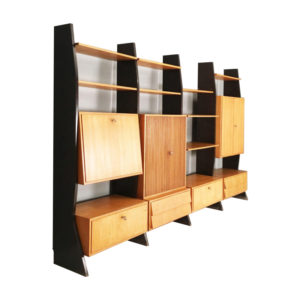 Modernist wall unit from 1959 by Erich Stratmann for Idee Möbel