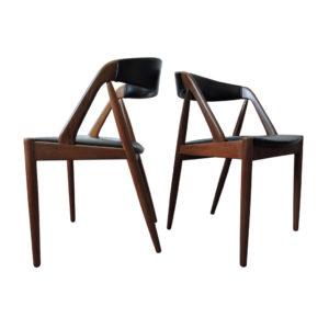 Model 31 Teak Chairs by Kai Kristiansen for Schou Andersen, 1960