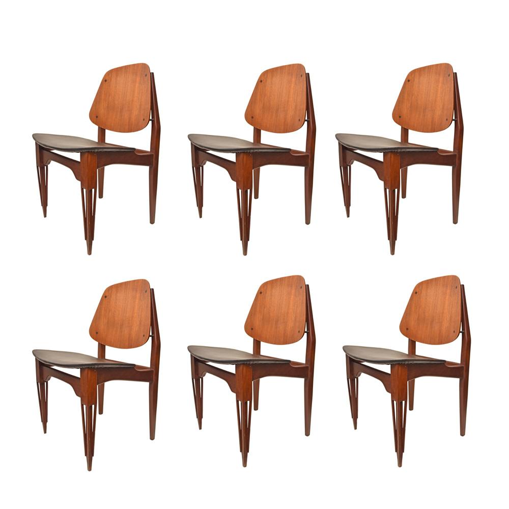 Set of 6 Fratelli Proserpio design chairs