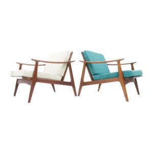 Danish Teak Lounge Chairs, 1960