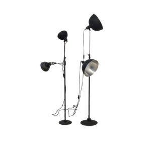 Pair of Industrial Studio Floor Lamp by KAP, 1950s