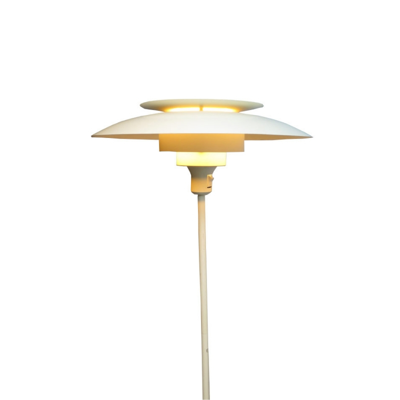 Danish white metal layered reading lamp