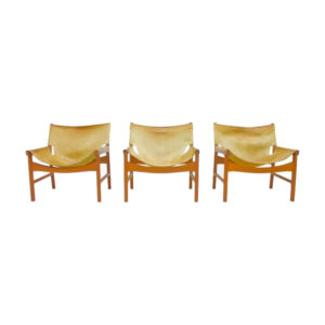 Illum Wikkelso Easy Chair Model 103 in Oak and leather by Mikael Laursen, Denmark