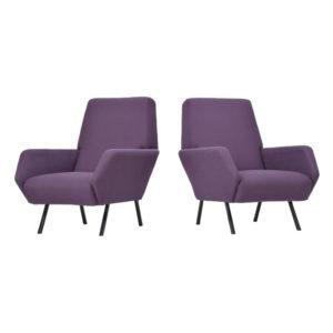Pair of Italian Purple Armchair, 1950s