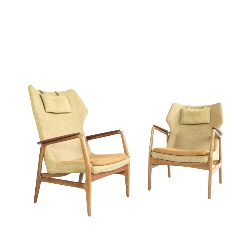 pair of easy chairs by Aksel Bender Madsen for Bovenkamp 1960s