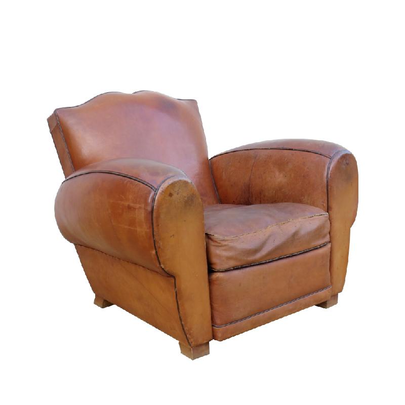 1940's Leather Club Armchair