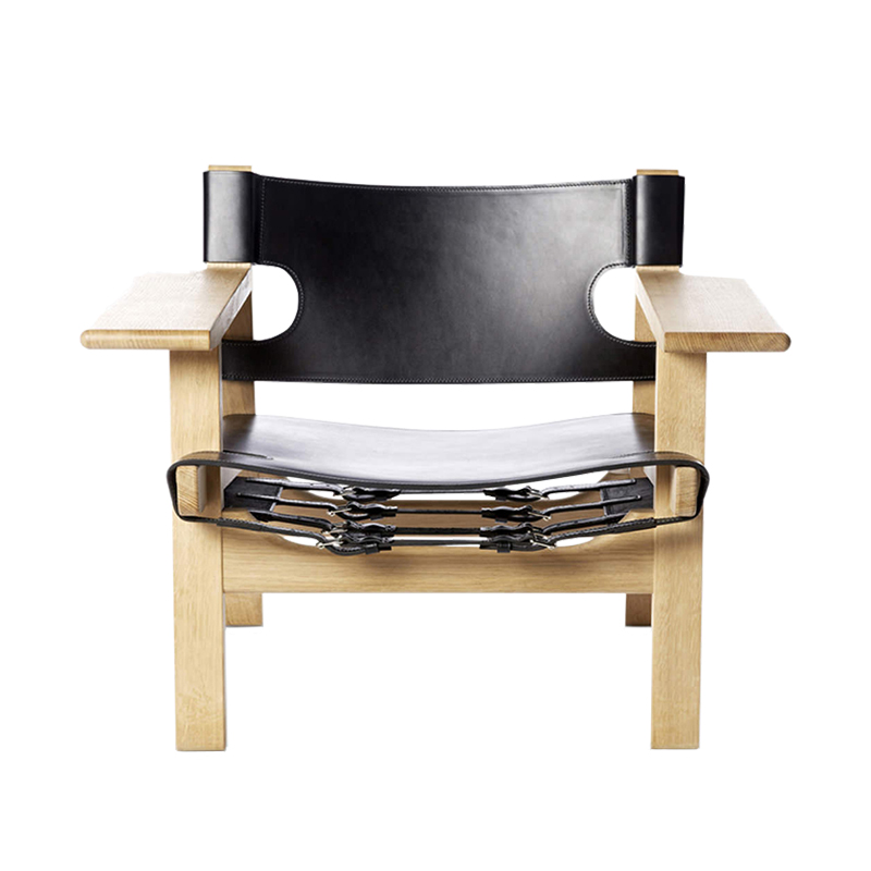 Set of 2 Borge Mogensen Spanish Chairs