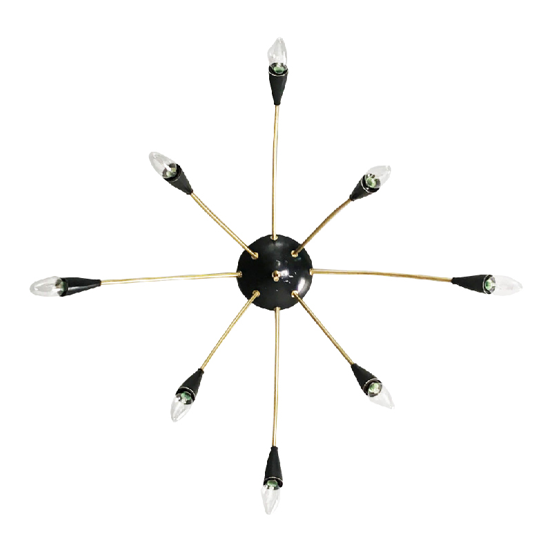 Four spider / sputnik lamps from the 1950's