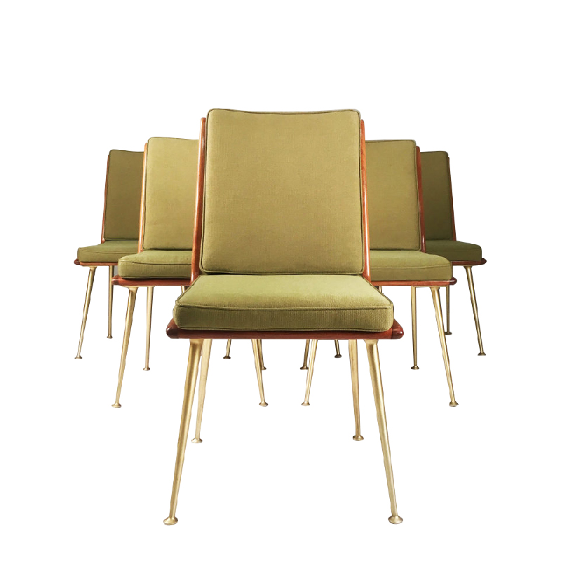 A set of six rare modernist dining chairs by ES Soloform