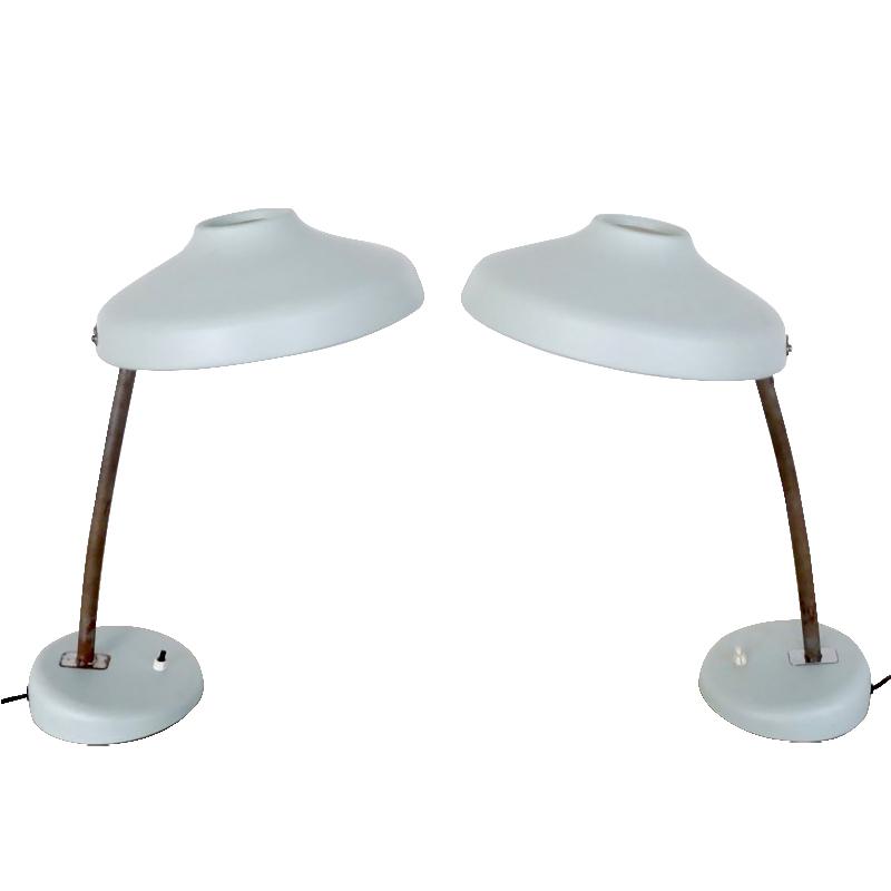 Vintage French Adjustable Desk Lamps Set of 2