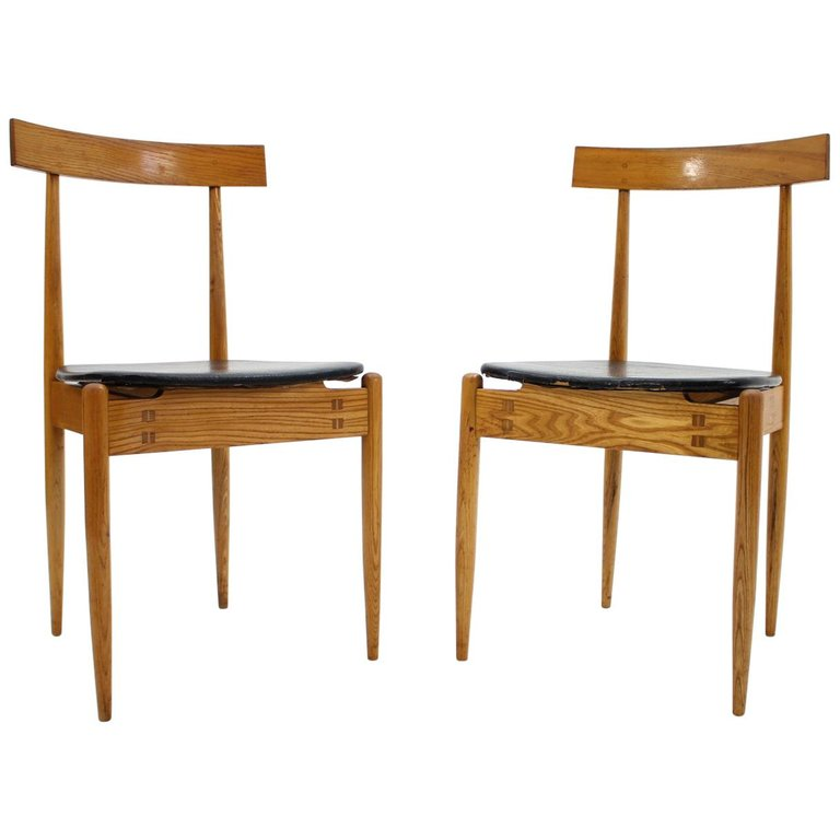 Pair of Very Rare Dining Chairs Alan Fuchs, ULUV, 1964
